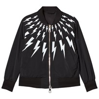 Neil Barrett Black Lightning Bolts Print Bomber Jacket 110