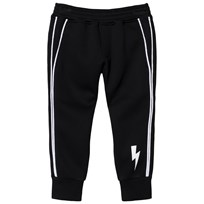Neil Barrett Black Neoprene Side Piping Jogging Bottoms 110