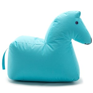 Image of Sitting Bull Happy Zoo Lotte Pouf Blue (3012594759)