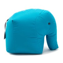 Sitting Bull Happy Zoo Carl Pouf Blue Light Blue