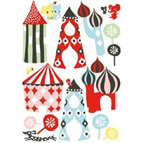 Littlephant Wallsticker, Littletown Multi