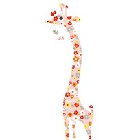 Littlephant Wallsticker, Mätsticka, Giraff, Flowers Multi
