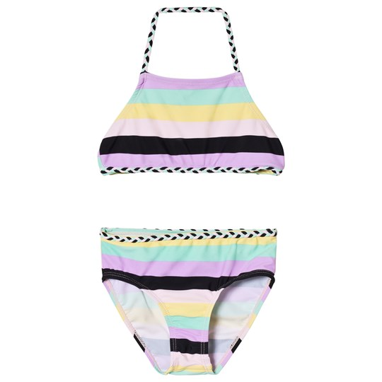 The BRAND Plait Bikini Pastel Stripe pastell stripe
