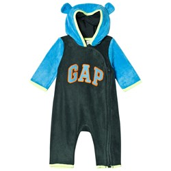 GAP Campus Green Bear Hood Romper