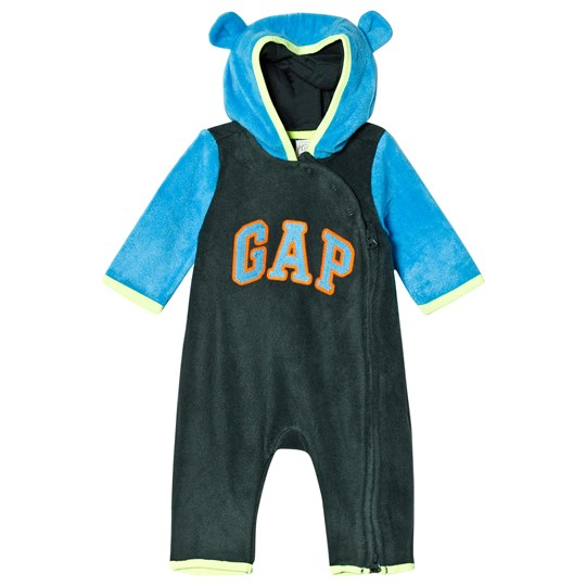 GAP Campus Green Bear Hood Romper CAMPUS GREEN