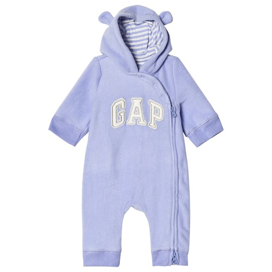 Gap Bear Hood One-Piece Periwinkle Blue PALE PERIWINKLE