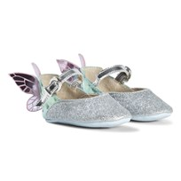 Sophia Webster Mini Silver Gitter and Pastel Chiara Baby Shoes Silver Glitter & Pastel