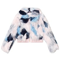 Juicy Couture Multi Textured Faux Fur Bomber Jacket 963 Multi