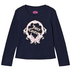 Juicy Couture Navy Princess Glitter Long Sleeve Tee