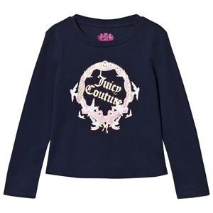 Image of Juicy Couture Navy Princess Glitter Long Sleeve Tee 2-3 years (3065505969)