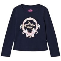 Juicy Couture Navy Princess Glitter Long Sleeve Tee 419 Regal