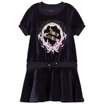 Juicy Couture Navy Princess Glitter and Diamante Dress 419 Regal