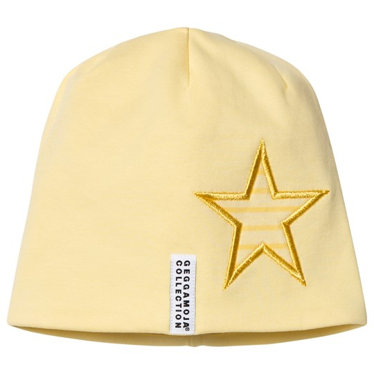 Geggamoja Star Beanie Light Yellow L.yellow