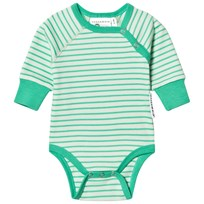 Geggamoja Long Sleeve Baby Body Light Green/Soft Green L.green/s.green