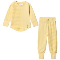 Geggamoja 2-Piece Pyjama Set Light Yellow/Soft Yellow L.yellow/s.yellow