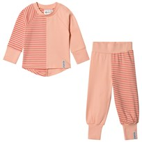 Geggamoja 2-Piece Pyjama Set Peach/Soft Red Peach/soft red