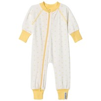 Geggamoja Bamboo One-Piece Yellow Star Bamboo pyjamas