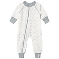 Geggamoja Bamboo One-Piece Grey Star Bamboo pyjamas