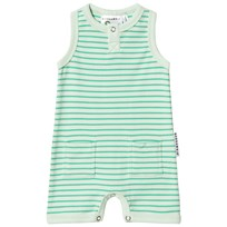 Geggamoja Stripe Romper Light Green/Soft Green L.green/s.green
