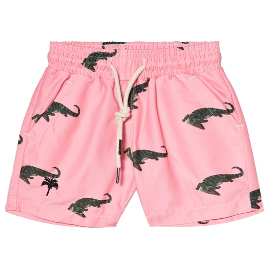 OAS Coral Crocodile Swim Shorts Coral