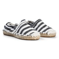 OAS Black Stripe Espadrilles Black