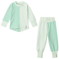 Geggamoja 2-Piece Pyjama Set Light Green/Soft Green L.green/s.green