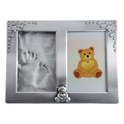 Dacapo Photo Frame for Hand/Footprint Silver