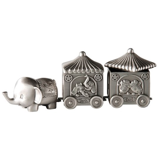 Dacapo Elephant and Two Wagons Silver Silver