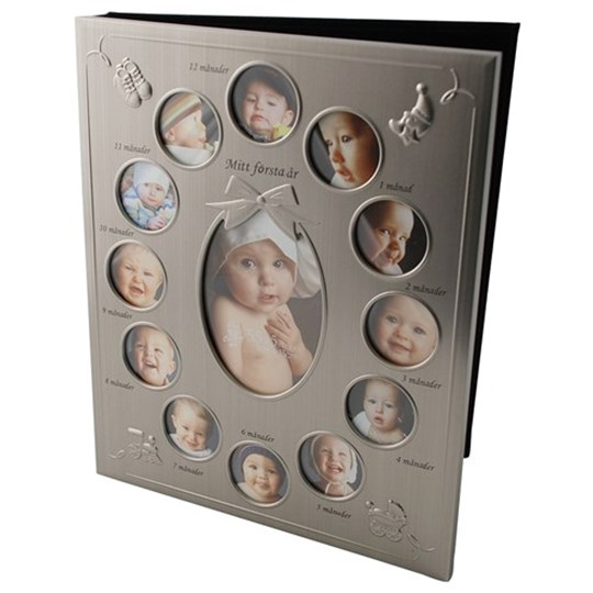 Dacapo My First Year Photo Album Silver Babyshopcom