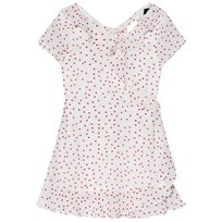 Bardot Junior White and Red Spot Frill Dress White