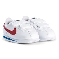 NIKE White and Red Cortez Infants Sneakers 103