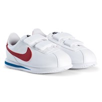 NIKE White and Red Cortez Sneakers 103