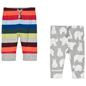 Image of GAP 2 Pack Pant Classic Multi Stripe And Polar Bear 6-12 mdr (3014543843)
