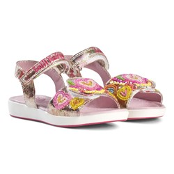 Lelli Kelly Pink Mila Beaded Heart Sandals