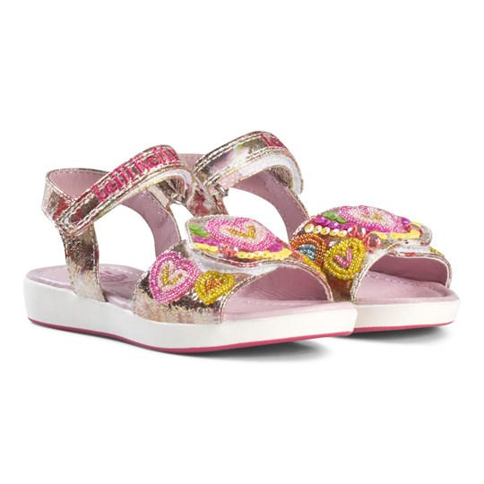 Lelli Kelly Pink Mila Beaded Heart Sandals Multi