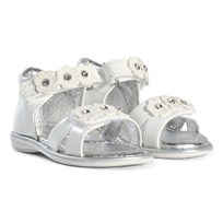 Lelli Kelly White Patent Flower Velcro Helena Sandals WHITE PATENT