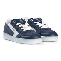 Geox Kommodor Light Up Trainers Navy and White C4211