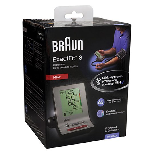 Braun ExactFit™ 3 Blood Pressure Monitor BP6100 Multi