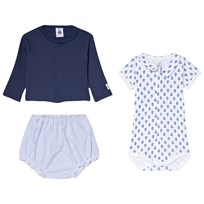 Petit Bateau Blue and White Baby Clothing Set