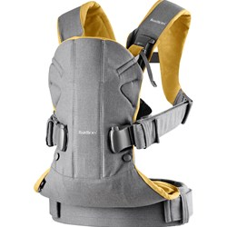 Babybjörn Baby Carrier One Grey/Yellow Cotton Mix
