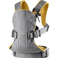 Babybjörn Baby Carrier One Grey/Yellow Cotton Mix Grey/Yellow, Cotton Mix