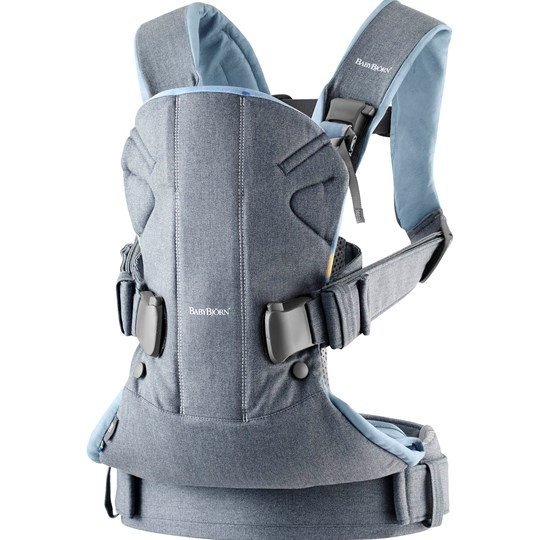 Babybjörn Baby Carrier One Dove Blue/Confetti Cotton Mix Dove Blue/Confetti, Cotton Mix