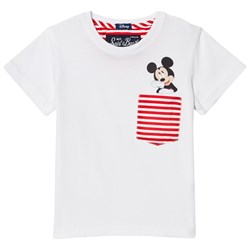 MC2 Saint Barth White Mickey Mouse Pocket Beach Tee