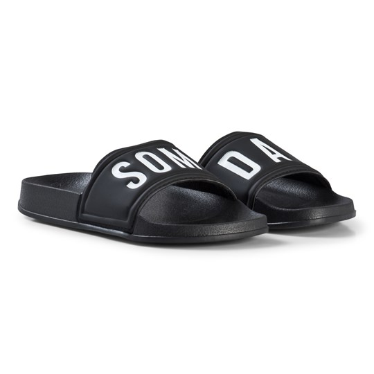 Someday Soon Cruz Beach Sliders Black Black