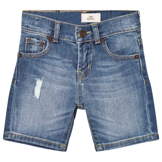 Levis Kids Mid Wash Distressed 510 Jean Shorts 46