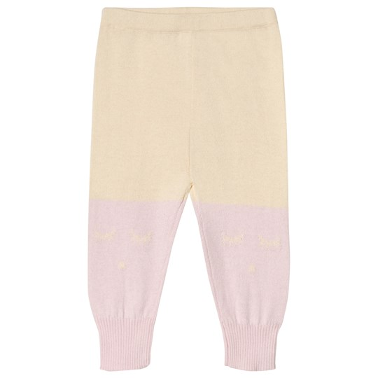 Livly Cashmere Blend Pants Rose Pink/Light Yellow Purple/Yellow