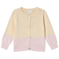 Livly Cashmere Blend Cardigan Rose Pink/Light Yellow Purple/Yellow
