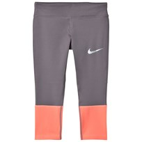 NIKE Grey and Pink Nike Power Running Tights