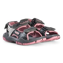 Hummel Pink and Gray Trekking Sandals Foxglove