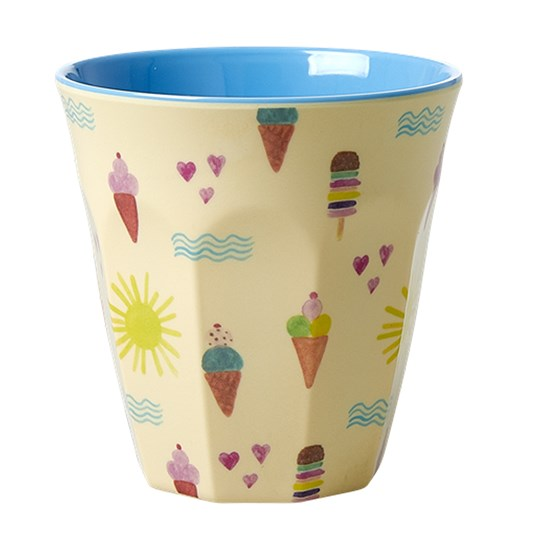 Rice Medium Melamine Cup with Summer Print summer print